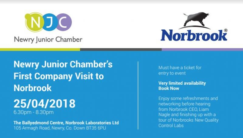 Newry Junior Chamber host Norbrook Visit