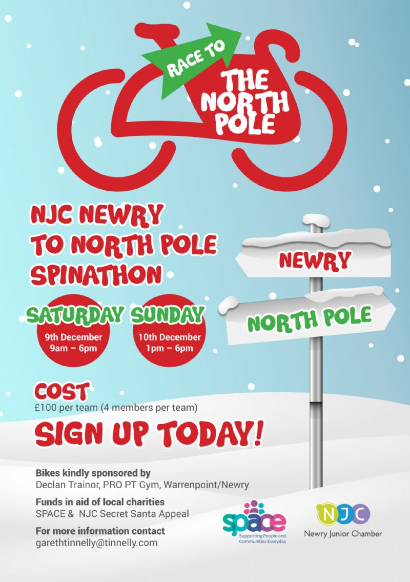 Newry to the North Pole Spin Cycle Challenge